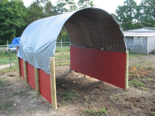 Economy Horse Run-In Shed Shelter Barn AlpacaBytes « Dutch Hollow Acres