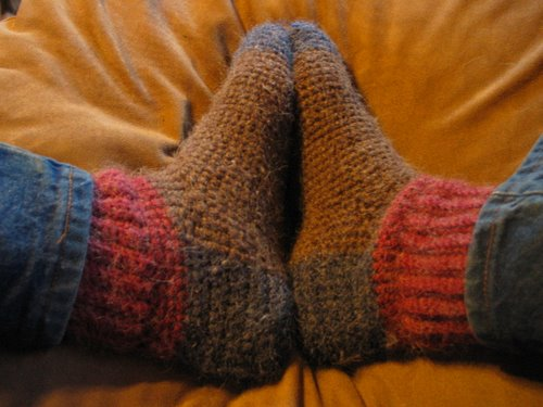 Free Crochet Patterns For Slippers And Socks : Alpaca Slipper Socks With Pattern AlpacaBytes Dutch ...